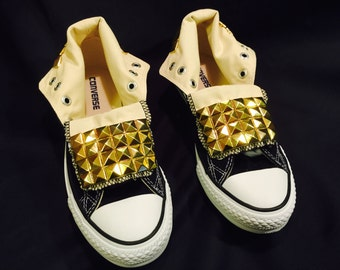 Studded Converse Shoes Black