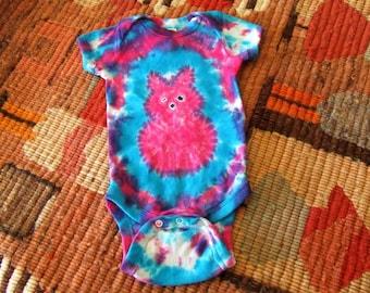 Newborn Peep Tie Dye Baby Onesie - Easter Bunny - Ready to Ship