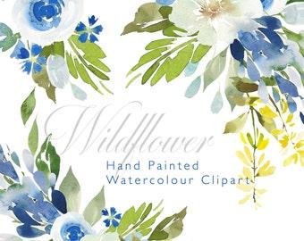Hand Painted Watercolour Floral Arrangements - Wildflower