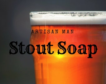 Stout Soap Fathers Day gift | Beer soap Sandalwood and Pine handmade bar all natural Guinness Irish Stout