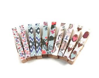 Decorative Magnetic Clothespins, Refrigerator Magnets, Bag Clips, Photo Clips, Office Organization, Office Decor, Dorm Decor, Fridge Magnets