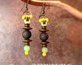 """Earrings ethnic """"Gitgit"""" - Collection """"Stops Indonesian"""" - chic and sophisticated"""