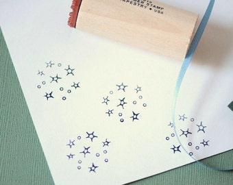 Star Cluster Rubber Stamp