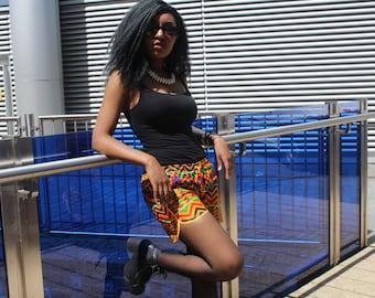 Festival Clothing African Short Shorts Kente Shorts Festival Shorts Hot Pants Short Shorts Booty Shorts Knickers African Hot pants