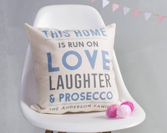 Personalised This Home Is Run On Cushion Pillow