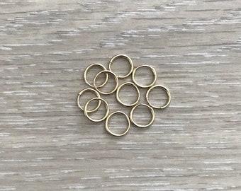 14k Gold Filled Hoops, Tiny Gold Hoops, 9 mm Hoops, 12 mm Hoops, Endless Hoops