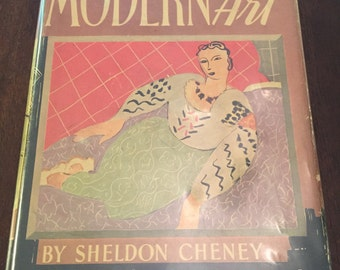 The Story of Modern Art by Sheldon Cheney, vintage art reference book