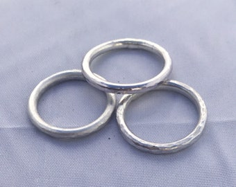 Stacking Ring Hammered