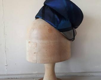 Vintage Tartan Hat Pillbox 1950s