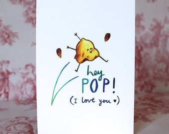 Cute Popcorn Father's Day Card