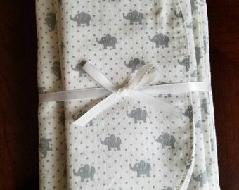 Swaddle Blanket & Burp Cloth Gift Set