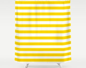 Shower Curtain -  Striped Vintage Lines