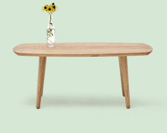 Solid Wood Coffee Table - White Oak