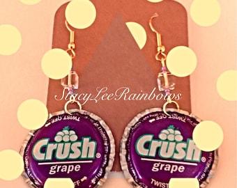 Earrings Grape Crush Soda Earrings Womens Earrings Jewelry