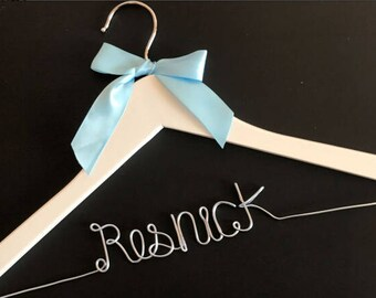 Free shipping Personalized Wedding Hanger, bridesmaid gifts, name hanger,