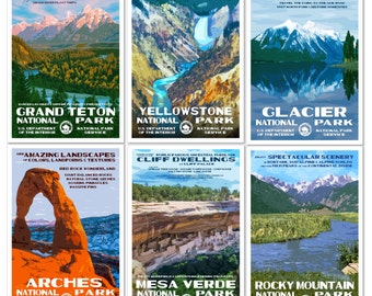 Get 8 National Park Posters, Save 60 Bucks, Free USPS Priority Shipping
