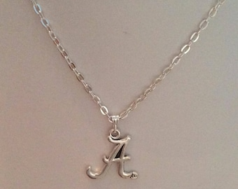 Letter A initial necklace