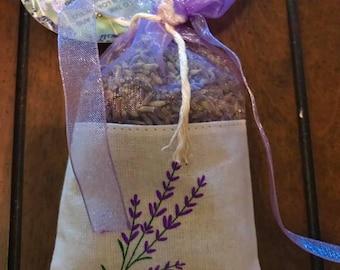 Culinary Organic French Lavender in Decorative Keepsake Sachet