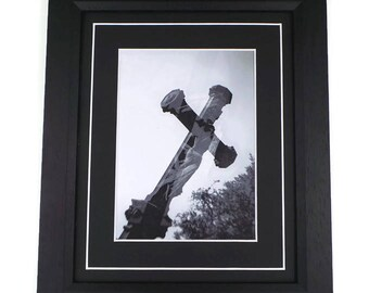 Cemetery Cross Original Photography Print Framed Or Unframed