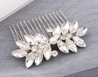 Crystal Bridal Hair Comb Wedding Hair Piece Comb Bridesmaid Small Bridal Comb Bridal Hair Pin Bridal Hair Accessories Clear Bridal Headpiece