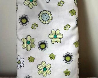Glasses case, phone case, fabric glasses case, fabric phone case, green flowers case, flowers phone case, flowers glasses case