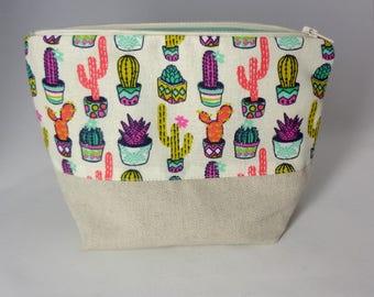 Trousse à maquillage tendance cactus multico