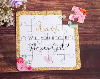 Will You Be My Flower Girl Puzzle, Flower Girl Gift, Flower Girl Proposal, Will you be my, Flower Girl Cute Gift