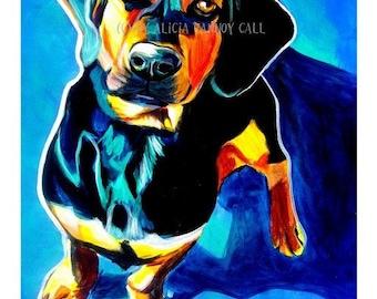 Doxle, Pet Portrait, DawgArt, Dog Art, Pet Portrait Artist, Colorful Pet Portrait, Doxle Art, Pet Portrait Painting, Art Prints