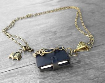 Book Lover Gift/ Gift For Mom/ Gift For Sister/ Book Necklace/ Necklace Book/ Miniature Book/ Book Jewelry/ Mom Gift/ Sister Gift
