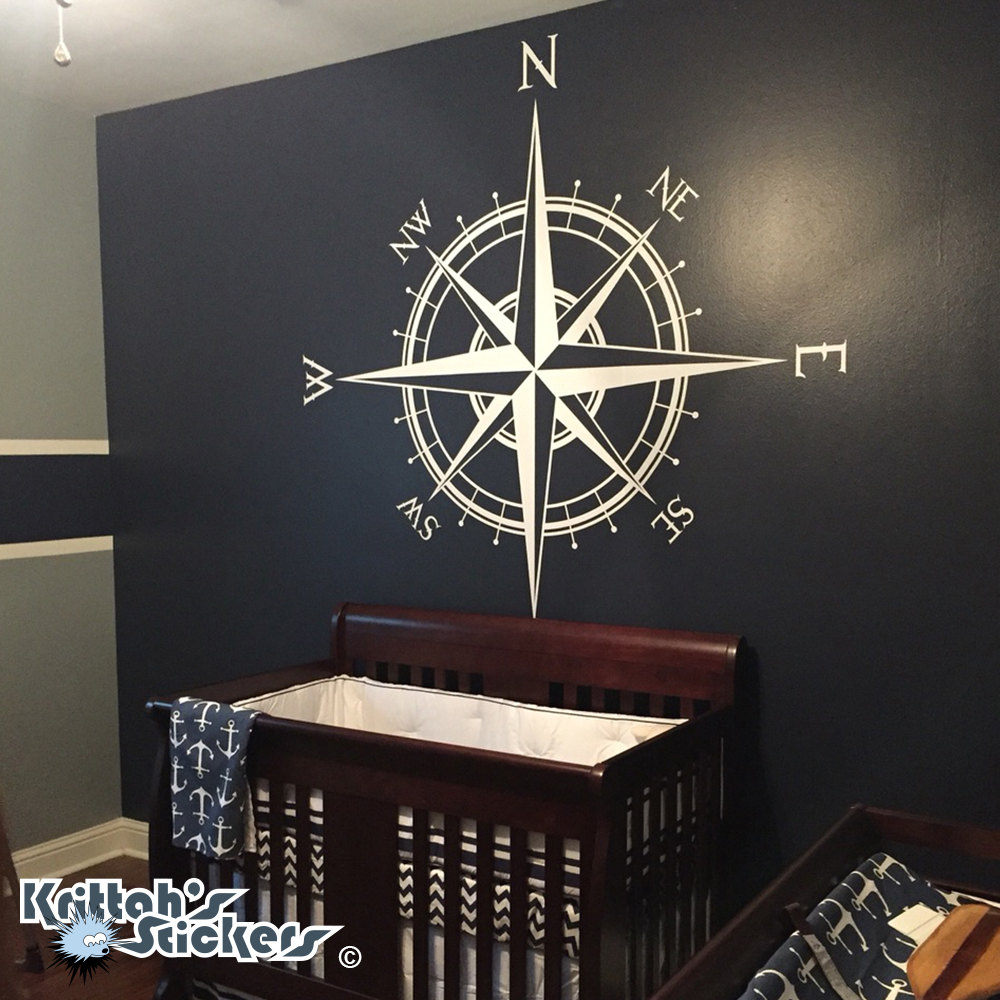 Compass rose the captain vinyl decal fits on wall zoom gumiabroncs Choice Image