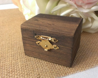 rustic wedding ring box, wooden ring box