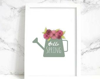 Hello Spring Wall Art - Digital Print
