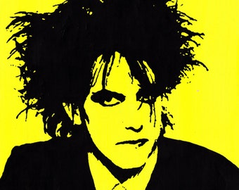 Robert Smith of The Cure: art print of original painting by Jonathan Ash A5 A4 A3