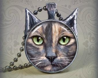 DT3 Dilute Tortoiseshell Cat pendant