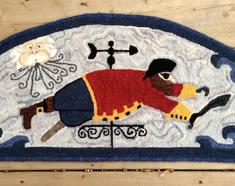 """Hand Hooked Rug - """"Shiver Me Timbers"""""""