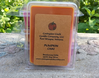 Pumpkin Chai Pure Soy Breakaway Melt, Fall Food Scent, Autumn Scent, Pumpkin Scent, Scentsy, Stocking Stuffer, Teacher Gift, Coworker Gift
