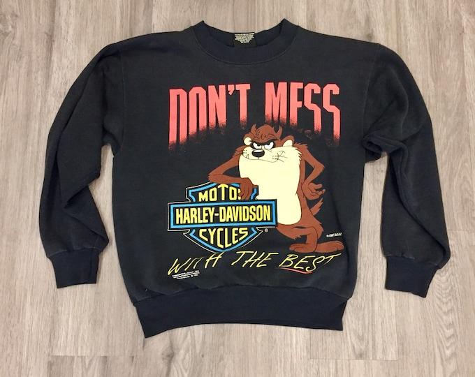 90s Tasmanian Devil Harley Davidson Sweatshirt