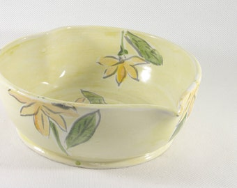Heart Dish with Sunflowers, Wedding Gift, Ceramics and Pottery, 9th Anniversary Gift, Baking Dish, Home Decor, Office Decor, Wedding Gift