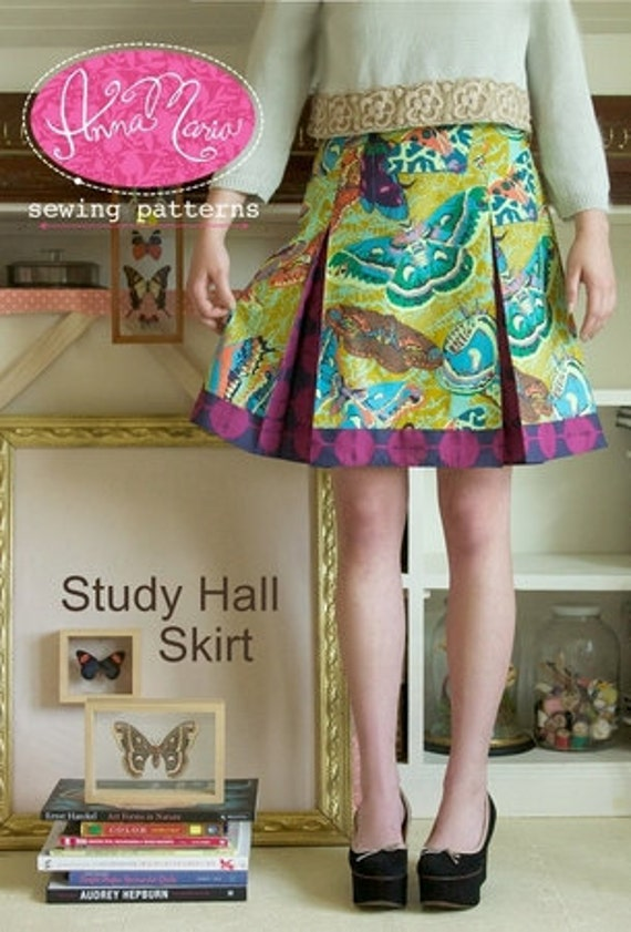 Study Hall Skirt Sewing Pattern by Anna Maria Horner at ...