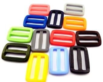 "30 mm / 1.18"" - plastic DELRIN buckles slider 3 bar slider for webbing strap, AOE"