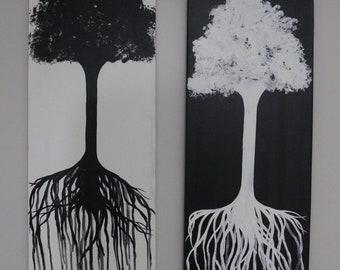 SALE tree paintings on canvas