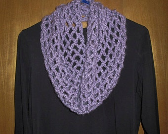 Lilac Crocheted Cowl Neck Warmer