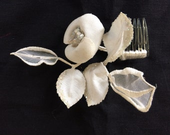 Vintage ivory bridal hairpiece