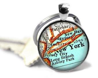 New York Keychain, Custom New York keychains, Manhattan key chain, Couple keychain, Dad keychain, Daddy keychain, Anniversary keychain,
