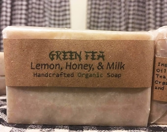Green Tea Soap Made with Organic Ingredients