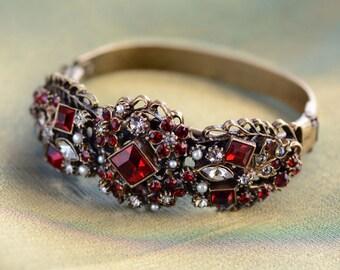 Bridal Bracelet, Bridal Jewelry, Bracelet, Wedding Jewelry, Crystal Bracelet, Pearl Bracelet, Wedding, Gift for Her, Bridesmaid BR836-GA
