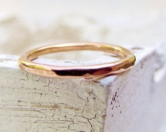 Rose Gold Wedding Ring - Pink - Wedding Band - Gift For her - Wedding Bands