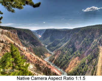 The Grand Canyon of Yellowstone #2: Landscape art photography prints for home or office wall decor.