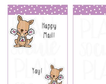 Happy Mail Stickers, Kangaroo Poing Planner Stickers -101
