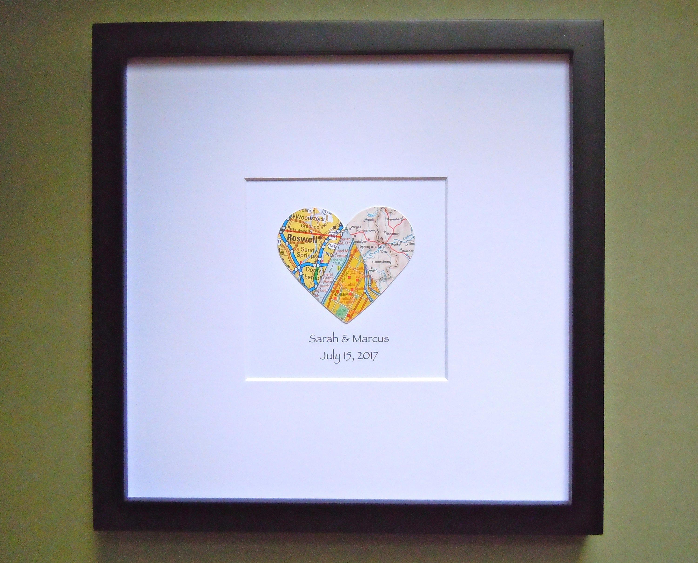 Dorable Mapas Enmarcados Corazón Colección de Imágenes - Ideas de ...
